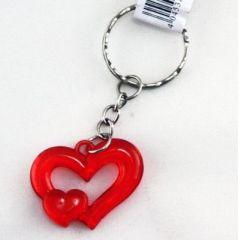 Schlüsselanhänger mit roten Herzen ca. 3 cm - Muttertag - Geschenkidee