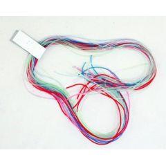 Scoubidou-Bänder - 20 Stück - Glitzer - Plastikbänder - Flechtbänder