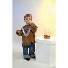Kinderkostüm Kleiner Indianer - Indianerbluse und Stirnband- Karneval