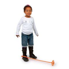 Hüpfstar - drehendes Hüpfspielzeug mit Licht - Topseller - orange -