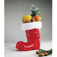 Stiefel - roter Nikolausstiefel zum Befüllen- ca. 14,5 cm - Plastikstiefel