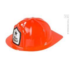 Feuerwehrhelm rot - Einheitsgröße - Plastik