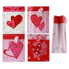 Geschenk Tasche Herzdesign - 4 Ausführungen - mit Trageband