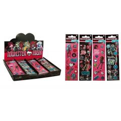 Monster High Sticker ca. 16 x 5 cm - 4 verschiedene Ausführungen