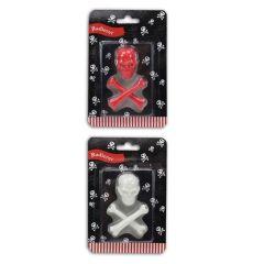Piraten Radierer - 3 Teile - rot oder weiß