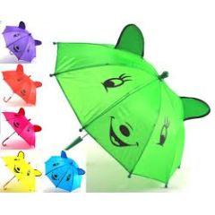 Regenschirm für Kinder - Stockschirm - mit Gesicht