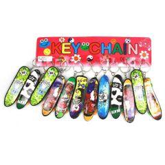 Skateboard verschiedene Sorten - an Schlüsselanhänger - ca. 9,5