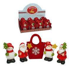 Weihnachtsfigur in Filztasche - Winterzauber - Glücksfigur ca. 6 cm