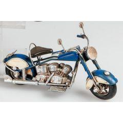 formano nostalgisches Modell Motorrad, 19 cm, blau
