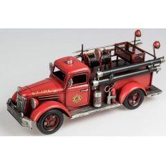 formano nostalgisches Modell Feuerwehrauto, 42 cm, rot