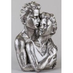 formano Skulptur Büste Paar, weiß-silber, 38 cm
