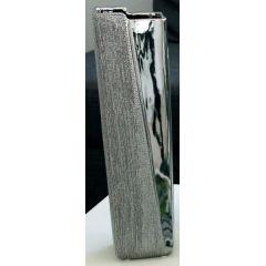 GILDE Keramik-Vase in Silber, 30 cm