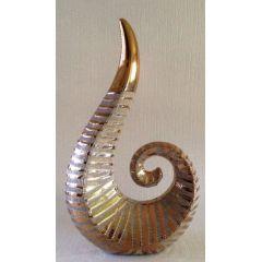 GILDE Skulptur aus Keramik in Gold, 25 cm