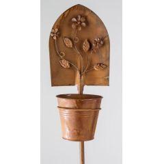 formano Gartenstecker Schaufel mit Pflanztopf, 115 cm