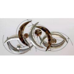 formano extravagante Wanddeko Metall Design, 68 x 38 cm