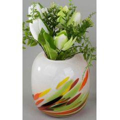 Deko-Vase Multicolor aus Glas, 17 cm