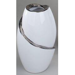 formano Vase in Edelweiss und Silber, 21 cm