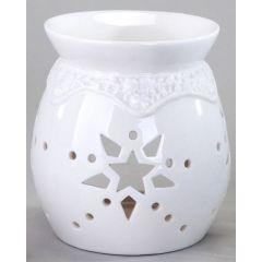 formano Duftlampe weiß glasiert mit Sterndurchbruch 11 cm