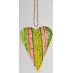 formano Hängedekoration Herz, grün, pink, 22 cm