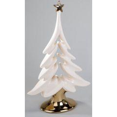 Deko-Tannenbaum aus Steingut champagner, 24 cm