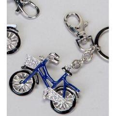 Schlüsselanhänger Fahrrad, blau, 6 cm