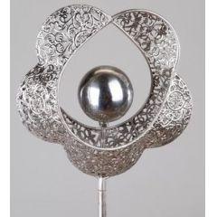 formano Gartenstecker aus Metall, Blume, 120 cm