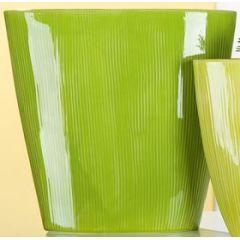 GILDE nostalgische Pflanzschale rund, grün, 11 x 32 x 31 cm