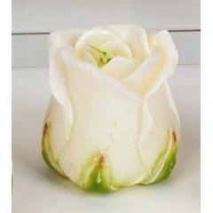 formano Deko-Kerzen Teelichter Rose Satz 3 Stück weiß, 7 cm