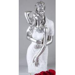 formano Deko-Objekt Paar, weiß silber, 42 cm