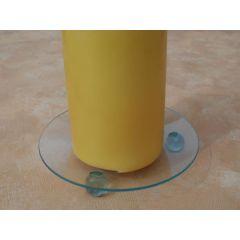 Kerzenteller aus Klarglas, rund 10 cm