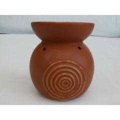 Duftlampe aus Keramik in Braun, 10 cm hoch