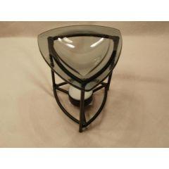 Metall-Duftlampe Geometrie dreieckig