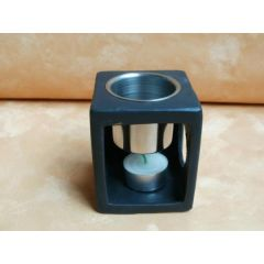 Moderne Duftlampe aus Metall und Keramik, schwarz