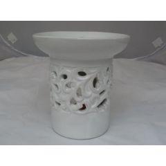 Duftlampe aus Keramik in Weiß