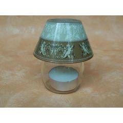 Glaslampe mit Engeln für Teelichter