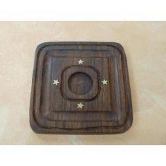 Holzhalter für Duftölflaschen 10 x 10 cm
