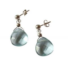 Aquamarin Ohrringe 925 Silber
