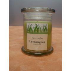 Kerze im Glas mit Deckel, Lemongras
