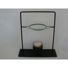 Schwarze moderne Metall-Duftlampe