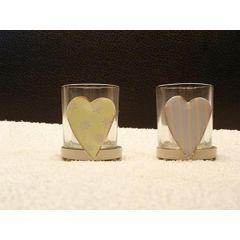 2 Teelichtgläser Herz