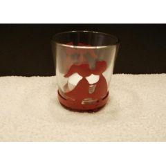 Teelichtbecher Herz-Dekor