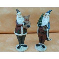 2 Weihnachtsmänner / ca. 16 cm hoch