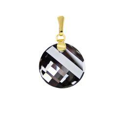 Swarovski® Kristall Anhänger Gold Doublé vergoldet, Twist Kristall 18mm, Farbe: Silver Night