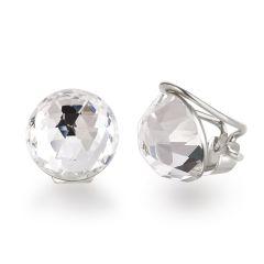Ohrclips aus 925 Silber mit funkelnen Swarovski® Kristall 12mm groß