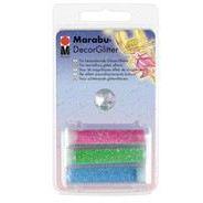 Marabu-DecorGlitter, 3 x 3 g im Röhrchen