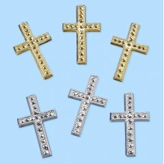 Sticker Kreuz gold oder silber 6 St.