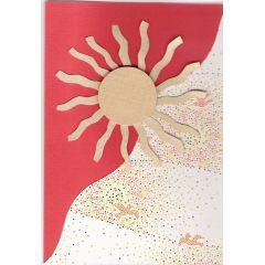 Konfirmation Kommunion Karte Sonne in handarbeit hergestellt