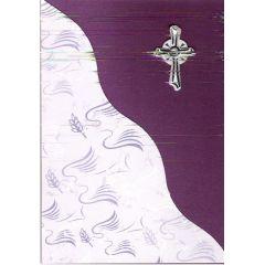 B6 Karte mit christlichen Karton in Handarbeit hergestellt zur Konfirmation Kommunion