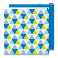 Scrapbook Raute blau/grün 30,5x30,5
