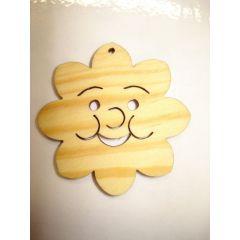 Holz Kleinteile gelasert Sonne